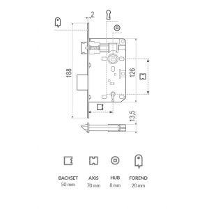 agb lock piccola dimensions