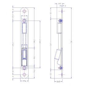 bonaiti b-one lock strike g992 dimensions