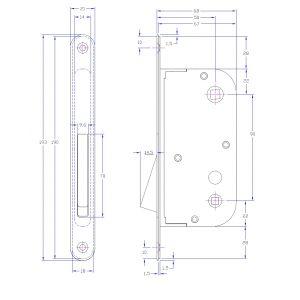 bonaiti b-one lock wc dimensions