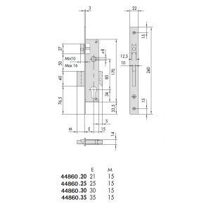 cisa 44860 cylinder lock dimensions (new)