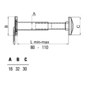 securemme 016dx door viewer dimensions (2)